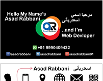 Asad Rabbani Visiting Card