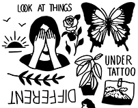 look at things
