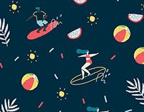 Children's Swimwear Pattern Design