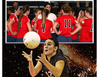 Volleyball sports memorymates photography template