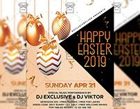 Happy Easter 2019 Flyer - Seasonal A5 Template