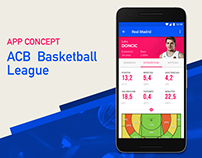 ACB Basketball League app concept