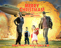 Movie Poster Style Christmas Card (a breakdown)
