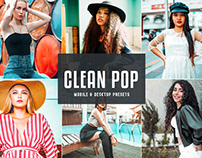 Free Clean Pop Mobile & Desktop Lightroom Presets