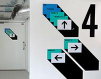 Signalétique de la Médiathèque de l'Architecture