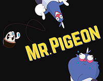 Mr.Pigeon set of stickers