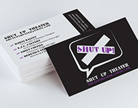 Shut Up Theater Business Cards