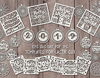 Christmas templates for laser cut.