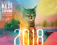 Catzone 4 Seasons Cat Calendar and Bookmark Designs