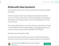 New McDonald's Sandwich - Allen Chi