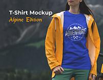 T-Shirt MockupAlpine Edition