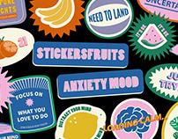Stickersfruits | Anxiety Mood