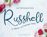 Russhell a sweet lettering font #fontself