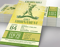 Charitable Golf Tournament Ticket Word Publisher Templa
