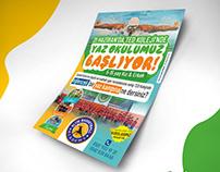 Elite Spor Okulları Yaz Okulu Poster Tasarım Çalışması