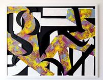 Typo painting in mix technique