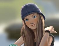Girl with skate