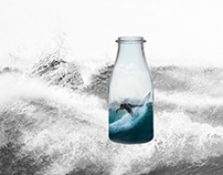 Surfers in Bottle
