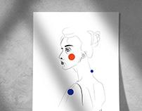 Line portraits collection