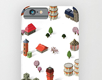 Pattern Design: 'Japanese Houses'