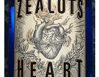 Zealot's Heart Label Illustrated by Steven Noble
