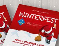 WinterFest Flyer and T-shirt Design