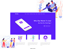 Landing App Business website Responsive Template
