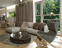 Interior proposal for residential apartments