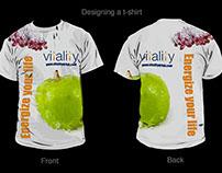 Designing a t-shirt using  Illustrator and Photoshop