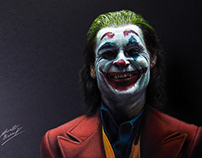 Drawing Joaquin Phoenix as Joker
