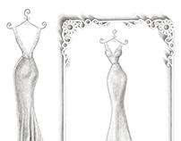 'Sharon' - Wedding Dress Illustration