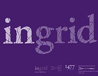 InGrid (Rounded & Slightly Broken) Typeface design