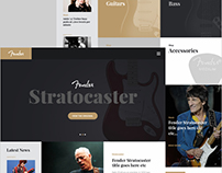 Fender Website Concept