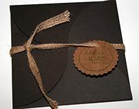 SILKSCREEN WEDDING INVITATION