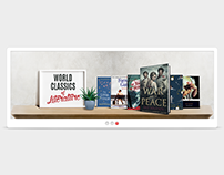 Web slider for Bookstore