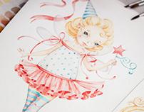 Scrap paper illustrations and design