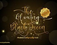Free Glowing Black Queen Display Font