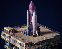 Space Shuttle - low poly