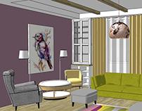Дизайн гостинной  /  Частный дом в Нижнем Новгороде