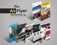 Free A4 Flyer Deal Bundle Preview Mock Up PSD