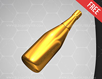 Champagne – Free 3d Render Templates