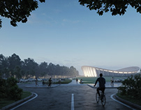 National Cycling Center. STUDIO ACHT.