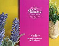 Carta de servicios para salón de belleza - Mélisse