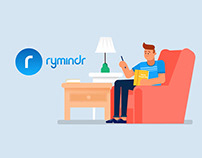 Rymindr - Appointment reminder app - 2D Animation