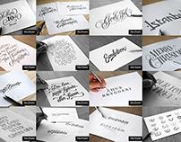 Lettering sketches 2017–2019 Volume I
