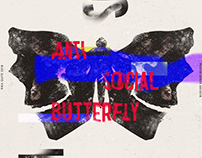Anti-social butterfly poster