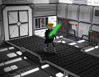 Luke Skywalker Voxel Art (Star Wars Fan Art)