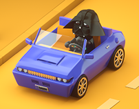 Darth Vader Booking a Car