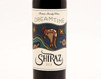 Dreamtime Shiraz Wine Label