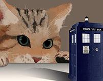 Gato e a Tardis